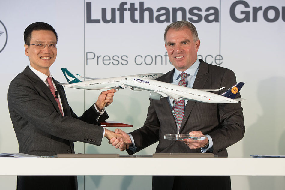 Cathay Pacific Airways, Lufthansa Group step into cooperation
