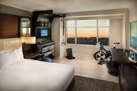 Hilton launches new fitness guest room
